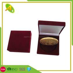 Cuadro de medalla personalizado de terciopelo de cuero medallón de madera medalla insignia de moneda Caja de regalo para el deporte medalla y la insignia de la moneda (03)
