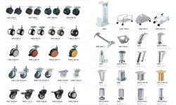 Vários tipos de Rodas de Aço de mobiliário de escritório e Base metálica