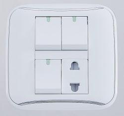 Три открыть два отверстия разъема выключателя панели управления
