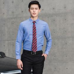Новый модным дизайнером длинный тонкий корпус втулки установите Оксфорд твердых мужчин платье кофта мужской одежды бизнес футболки на заказ