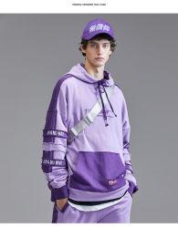 方法高品質のSweatershirtのカスタム刺繍のジャージーのタックルのあや織りの羊毛のプルオーバーのHoodiesの綿のHoodyのジャケット