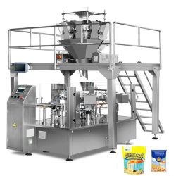 Le sel automatique des Fruits Séchés Chips de pommes de terre frites craquelins de riz pochette de l'emballage alimentaire Machine d'emballage