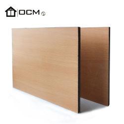 6mmの木製の穀物の高級な防水装飾的な外壁のパネルHPL MGOのボード