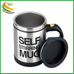 La alta calidad Selfstirring Whirlpool Mezclador automático de taza de promoción Auto agitando la mano de café eléctrico portátil automático de la taza de viaje