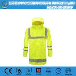 De Fluorescente Slijtage van het Jasje van de Winter van de Veiligheid van de Kleur hallo-Vis Antistatische en Waterdichte Unisex- voor het Werk en het Lopen