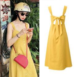 Venda a quente e suave diretamente da fábrica venda mulheres Button-Front vestir