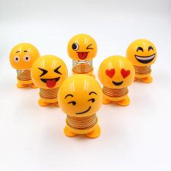 Regalo su ordinazione degli accessori dell'automobile di Emoji che agita molla Bobblehead il suo giocattolo capo della bambola