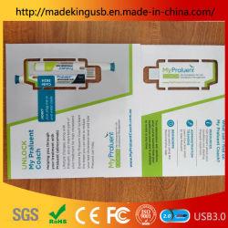 قرص محرك أقراص مخصص من الجلد محرك أقراص PVC USB محمول