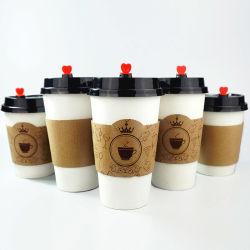 Manicotto a buon mercato stampato personalizzato della tazza della carta kraft Per l'imballaggio del caffè