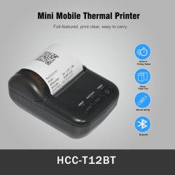 El papel de recepción térmica barata 58mm Mini Impresora térmica portátil Bluetooth (HCC-T12).