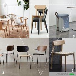 Mobiliário comercial mobiliário moderno mobiliário de madeira madeira maciça Cadeira de jantar o restaurante do Office