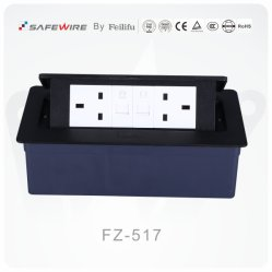Schwarze Tisch-Kontaktbuchse/Dämpfung Kontaktbuchse-/Schreibtisch-Anschluss/Tisch-Konsole mit Telefon-Kontaktbuchse