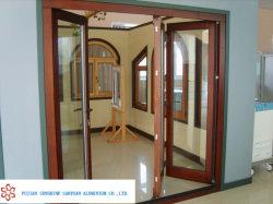 Profil d'Extrusion du grain du bois d'aluminium pour portes et fenêtres en alliage d 6063-T5
