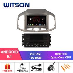 Processeurs quatre coeurs Witson Android 9.1 DVD de voiture GPS pour Chevrolet Captiva 2012-2013 Lien miroir pour Android mobile+l'iPhone