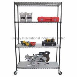 Scaffale mobile in metallo scaffale in filo metallico scaffale 4 strati