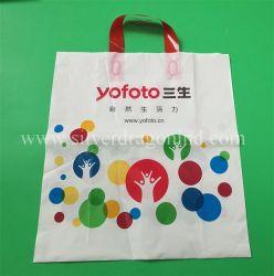 Imprimé personnalisé plastique Sacs Poly Promotion doux avec poignée de boucle