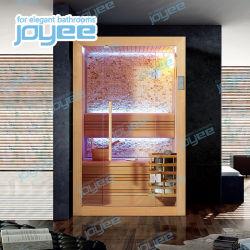 Joyee vapor seco Sala de sauna con puerta corredera