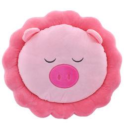 Nuevo diseño tejido de felpa Silla de oficina cerdo cojín de espuma de memoria de forma redonda