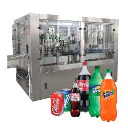 Tunkey Haustier-Flaschen-Sodawasser-Getränk-funkelnden Flüssigkeit abgefüllten Getränkesaft-Energie-CSD kohlensäurehaltigen abfüllenden füllenden mit einer Kappe bedeckenden Produktionszweig Maschine beenden