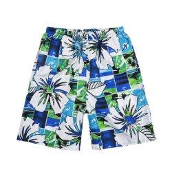 Commerce de gros Custom Mens Polyester occasionnel Fashion Surf nager Lignes réseau//la carte de maillots de bain pantalons courts-circuits et de la plage
