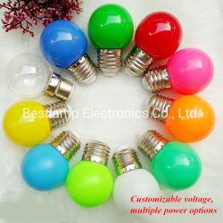 G45 conduit 1-4W coloré lampe de feu de décoration de Noël