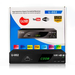 HD WiFi Youtube DVB T2 Digital sintonizador receptor de TV