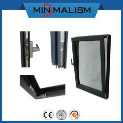 Черная алюминиевая рама с четкими стекло тепловой Break тент окна