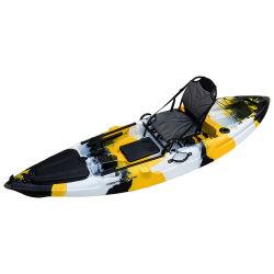 LLDPE сидеть в верхней части одного человека пластиковой лодке каяк со стержнем Holder-Rodster рыболовства