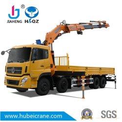 HBQZ 4개의 접히는 붐 및 Jiaheng 액압 실린더 (SQ330ZB4)를 가진 트럭에 의하여 거치되는 기중기 16.5 톤 너클 붐