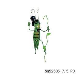 Animal de metal colgante Grasshopper Decoración Vid de escalada