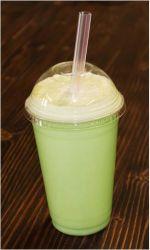 Transpartent Milkshake boisson froide coupelle en plastique avec une bonne qualité
