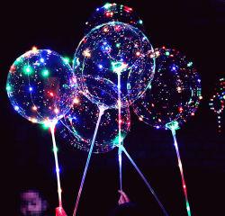 Venda por grosso de balão Bobo 20 Polegadas Luz balão LED para o Natal de Festas de Casamento Decoração