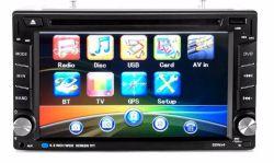 도매 범용 2 DIN 6.2인치 터치 스크린 카 DVD AM/Bluetooth/USB가 있는 플레이어