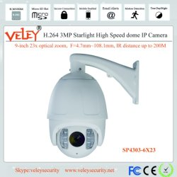 33X 23X оптический зум регулировка наклона PTZ IP высокоскоростных купольных