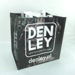 حقيبة تسوق مصنوعة من البوليبروبيلين مصنوعة من البلاستيك ومصنوعة من نسيج البلوق مع شعار