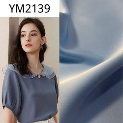 Ym2139 Bleu clair comme de la soie spandex polyester Tissu pour vêtement Robe