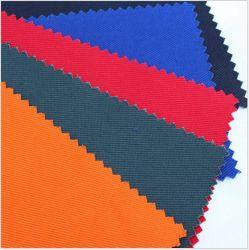 CVC coton/polyester Tissu à armure sergé ignifuge pour vêtements