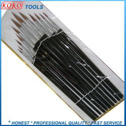 #253 de couleur noire à tête ronde de la poignée en bois de l'article artiste brosse de peinture