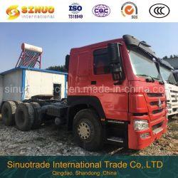使用されたSinotruk HOWOのトラック6X4 10の車輪秒針のトラクターは371HP 375頑丈なトラックのトレーラーヘッドトラクターヘッドトラックの優秀な状態をトラックで運ぶ