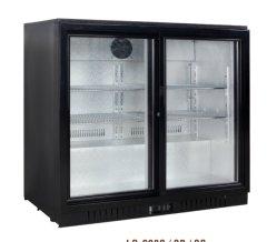 Doubles portes coulissantes en verre arrière bar Refroidisseur de vin avec verrou