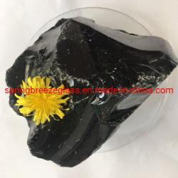 Black Grey Glass Rocks in magazzino per decorazione domestica e. Architettura paesaggistica e scultura