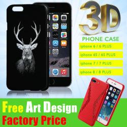 Geval van de Telefoon van de Cel van PC TPU/Silicone van de Sublimatie van de Toebehoren van de Huisvesting van de Dekking van de Druk van het Embleem van de fabrikant DIY het Douane Gepersonaliseerde Leuke 3D Zachte Mobiele voor iPhone 6/7 plus