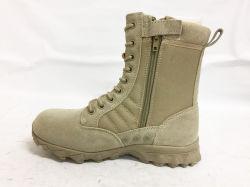 En cuir classique 8 pouce de couleur noire Boot militaire
