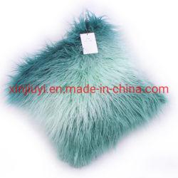 Различных цветов фигурные Sheepskin фо мех подушка с норки сзади