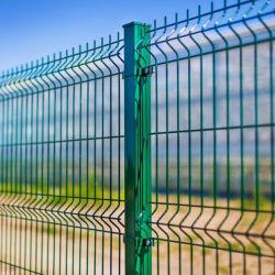 La polvere di prezzi di fabbrica ha ricoperto la rete fissa libera del giardino saldata Vu curva giardino della rete metallica della curvatura di 3D V