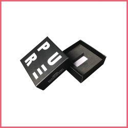 Piccolo contenitore di regalo di carta del contrassegno privato che impacca per il USB