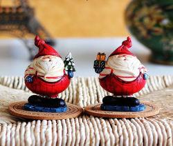 De moderne Ambacht van de Miniaturen van de Beeldjes van de Kerstman van de Hars Model