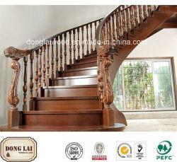Matériaux de construction en bois massif des escaliers en bois standard les plus populaires Les mains courantes