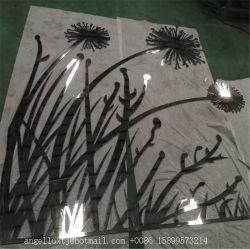 스테인리스 예술과 기술을 삭감하는 주문을 받아서 만들어진 금속 꽃 벽 예술 Laser