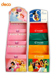 Toy Promote Papier Tiered Display Shelf mit Stiftleiste